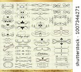 set of vintage decorative... | Shutterstock .eps vector #1007346271
