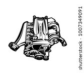 car engine for muscle or... | Shutterstock .eps vector #1007349091