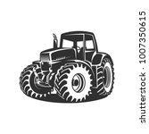 tractor on white background... | Shutterstock .eps vector #1007350615