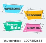 flat linear promotion ribbon... | Shutterstock .eps vector #1007352655