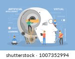robot head construction. people ... | Shutterstock .eps vector #1007352994