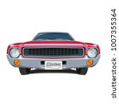 muscle car red vector poster... | Shutterstock .eps vector #1007355364