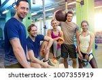 fitness  sport  exercising and... | Shutterstock . vector #1007355919