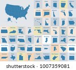 outline map of the united... | Shutterstock .eps vector #1007359081
