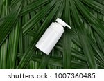 cosmetic bottle containers on... | Shutterstock . vector #1007360485