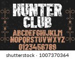 vintage font typeface...   Shutterstock .eps vector #1007370364