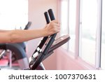 close up hand on cycle training ... | Shutterstock . vector #1007370631