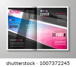 brochure template  flyer design ... | Shutterstock .eps vector #1007372245