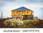 Yellow stilt house  stilts...