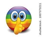 cute silence emoticon  emoji ...   Shutterstock .eps vector #1007373211