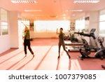 blurred of women are aerobic... | Shutterstock . vector #1007379085