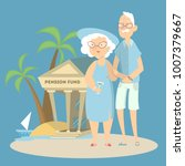 pension fund concept....   Shutterstock .eps vector #1007379667