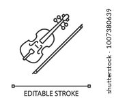 violin linear icon. thin line... | Shutterstock .eps vector #1007380639