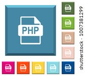 php file format white icons on... | Shutterstock .eps vector #1007381299