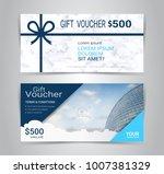 gift certificates and vouchers  ... | Shutterstock .eps vector #1007381329