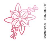 pink flower design  vector... | Shutterstock .eps vector #1007383249