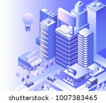modern city landscape....   Shutterstock .eps vector #1007383465