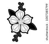 flower  design vector  ... | Shutterstock .eps vector #1007385799