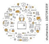 vector line web concept for... | Shutterstock .eps vector #1007393359