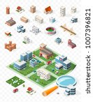 build your own isometric city . ... | Shutterstock .eps vector #1007396821