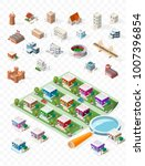 build your own isometric city . ... | Shutterstock .eps vector #1007396854