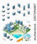 build your own isometric city . ... | Shutterstock .eps vector #1007396887