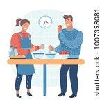 vector cartoon illustration of... | Shutterstock .eps vector #1007398081