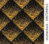 stipplism golden seamless shiny ... | Shutterstock . vector #1007398921