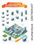 build your own isometric city . ... | Shutterstock .eps vector #1007404147