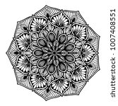 mandalas for coloring book.... | Shutterstock .eps vector #1007408551