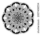 mandalas for coloring book.... | Shutterstock .eps vector #1007408554