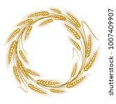 Circular Frame Wreath Of Wheat...