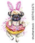 cute little dog hand drawn... | Shutterstock . vector #1007411671