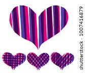 abstract hearts paint stripe... | Shutterstock .eps vector #1007416879