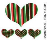 abstract hearts paint stripe... | Shutterstock .eps vector #1007416885