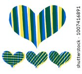 abstract hearts paint stripe... | Shutterstock .eps vector #1007416891