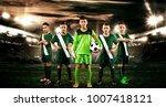 kids   soccer champions. boys... | Shutterstock . vector #1007418121