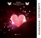 valentin day  greting card with ... | Shutterstock .eps vector #1007418475