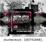 grunge background in black... | Shutterstock .eps vector #1007418481