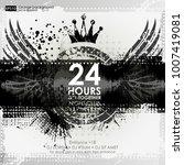 background for poster in grunge ... | Shutterstock .eps vector #1007419081