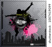 template colour grunge the... | Shutterstock .eps vector #1007419099