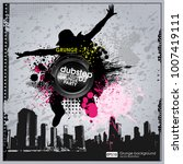 template colour grunge the... | Shutterstock .eps vector #1007419111
