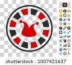 joker roulette icon with bonus...