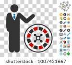 roulette croupier icon with...