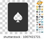 peaks playing card icon with...