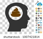 shit idea head pictograph with...