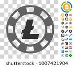 litecoin casino chip pictograph ...