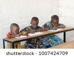 three beautiful african... | Shutterstock . vector #1007424709