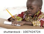 adorable little african child... | Shutterstock . vector #1007424724