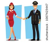 pilot  capitan    flying... | Shutterstock .eps vector #1007425447